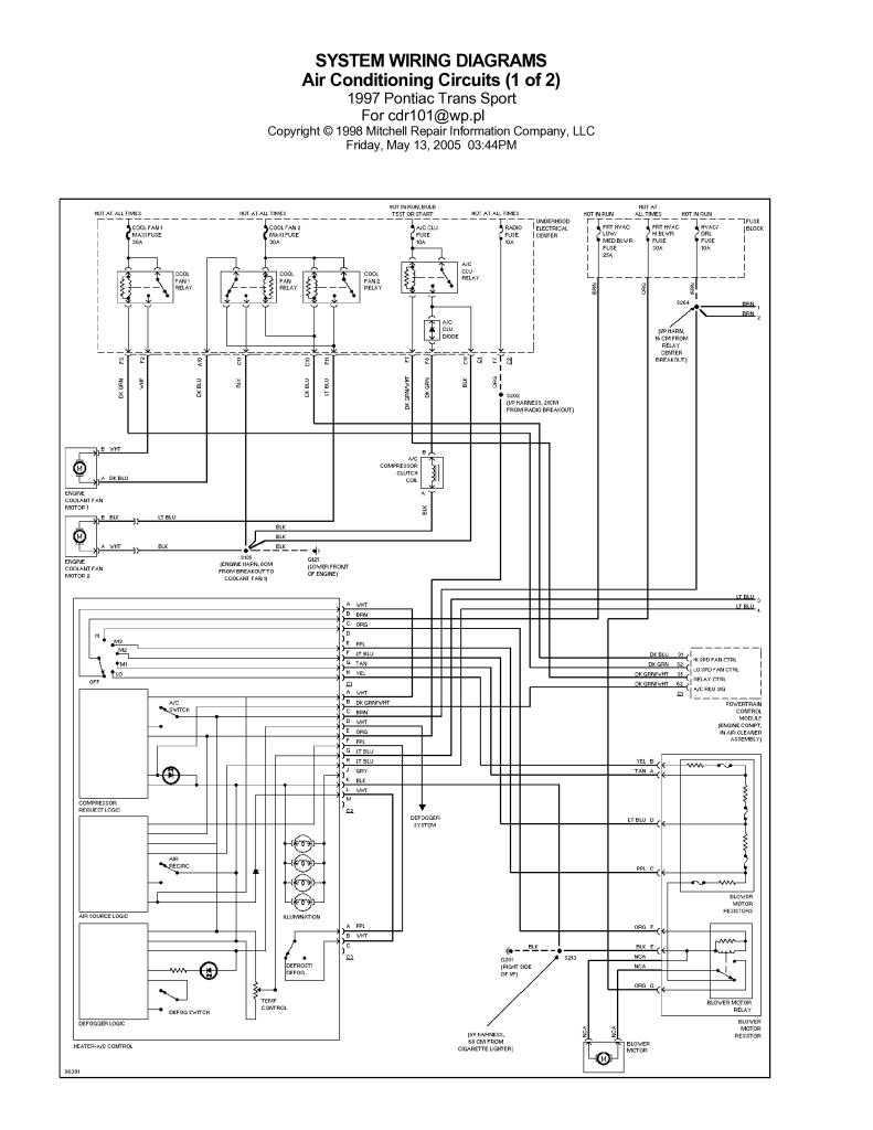 Pontiac Trans Sport 1997 Wiring Diagrams Pdf  1 26 Mb